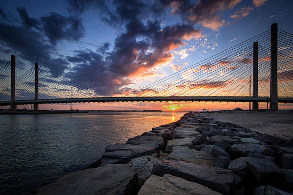 Indian River Inlet And Bay Sunset Poster