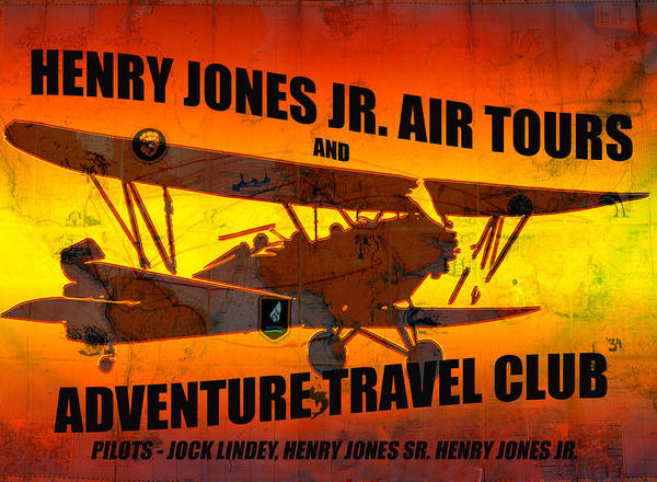 Indiana Jones Air Tours T Shirt Design A Poster