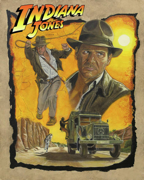 Indiana Jones W Logo Poster