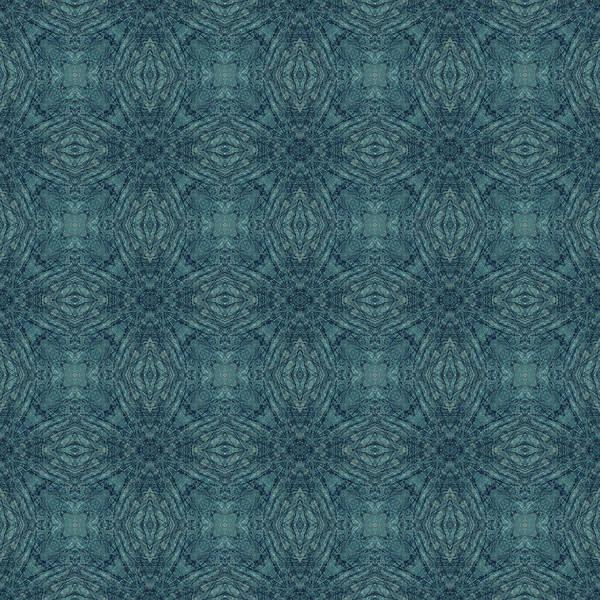 Indigo Diamond Cross Pattern 24in Poster