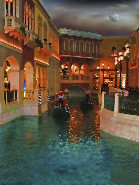 Poster featuring the photograph Inside The Venetian Casino Las Vegas by Rich Stedman