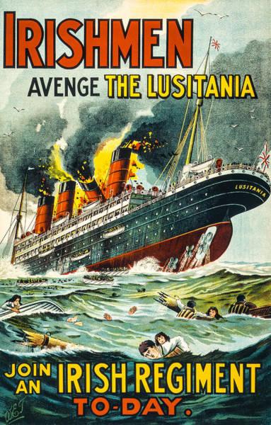 Irishman Avenge The Lusitiania Poster