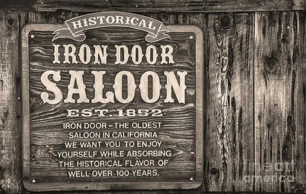 Iron Door Saloon 1852 Poster