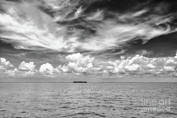 Island, Clouds, Sky, Water Poster