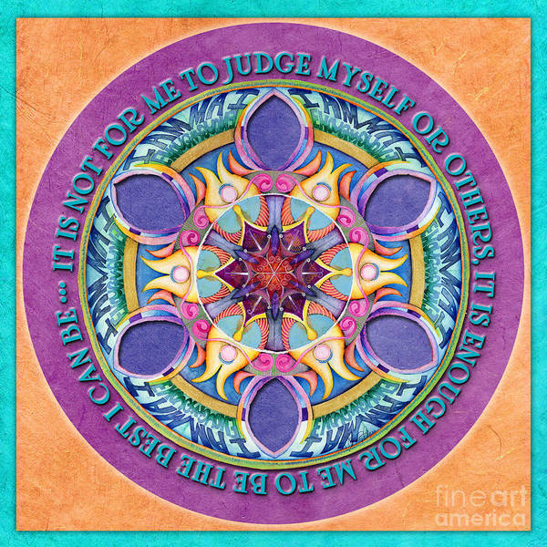 It Is Enough Mandala Prayer Poster