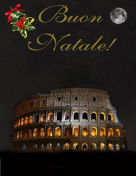 Italian Christmas Card Rome Poster