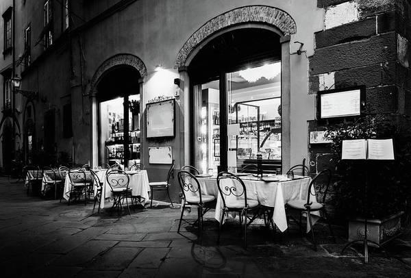 Italian Restaurant In Lucca, Italy Poster