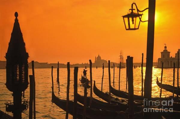 Poster featuring the photograph Italy Venice Riva Degli Schiavoni , Canale Grande Riva Degli Sch by Juergen Held