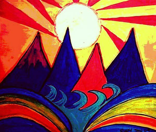 Japanese Sunrise Poster