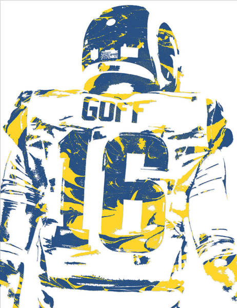 Jared Goff Los Angeles Rams Pixel Art 2 Poster
