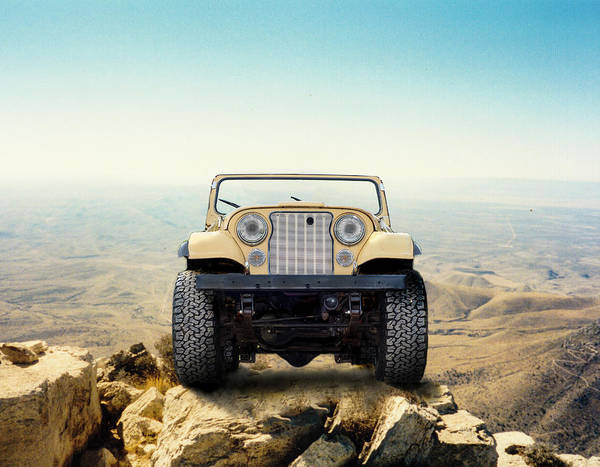 Jeep On Mountain Poster