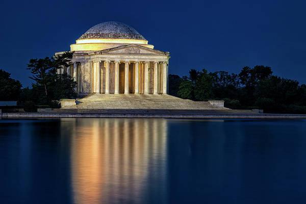 Jefferson Memorial At Twilight Poster