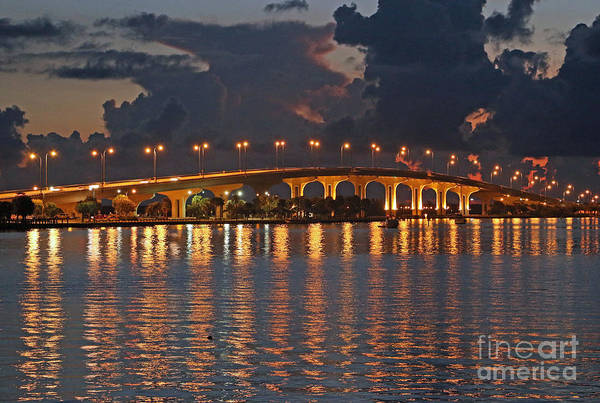 Poster featuring the photograph Jensen Beach Causeway by Tom Claud