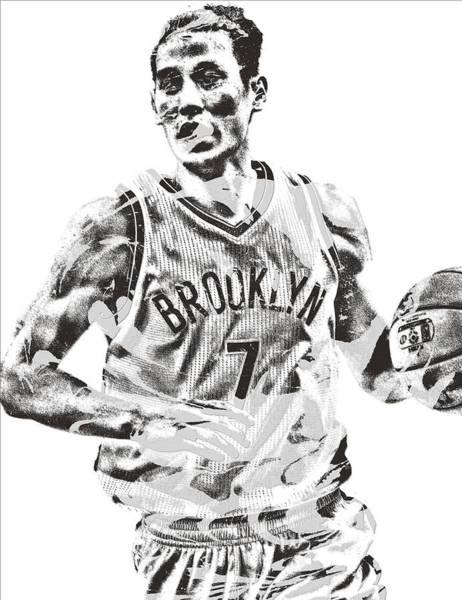 Jeremy Lin Brooklyn Nets Pixel Art 1 Poster