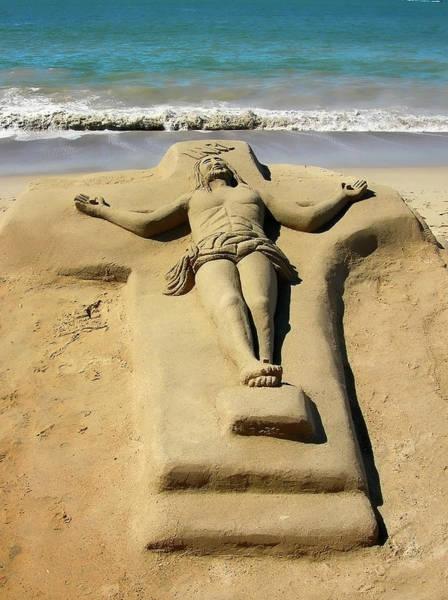 Jesus Sand Sculpture Poster