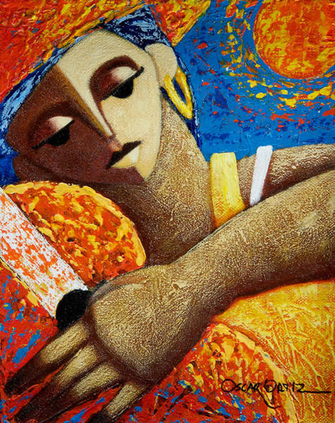 Poster featuring the painting Jibara Y Sol by Oscar Ortiz