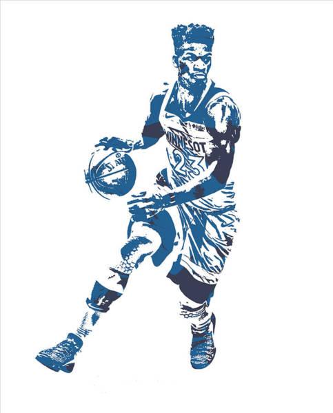 Jimmy Butler Minnesota Timberwolves Pixel Art 21 Poster