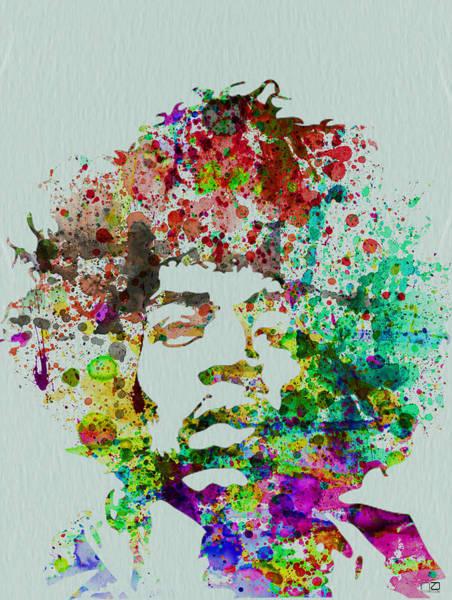 Jimmy Hendrix Watercolor Poster