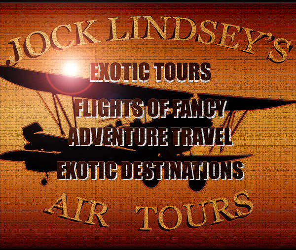 Jock Lindsey's Air Tour T Shirt Design A Poster