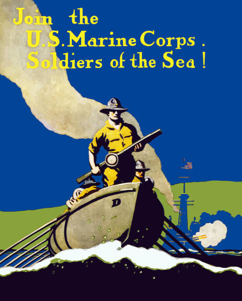 Join The Us Marines Corps Poster