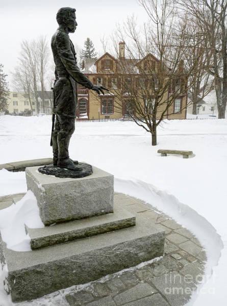 Joshua Lawrence Chamberlain Statue, Brunswick, Maine  -50415 Poster