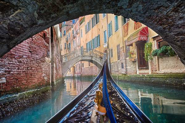 Journey Through Dreams - A Ride On The Canals Of Venice, Italy Poster