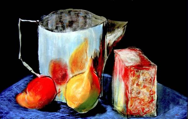 Jug With Fruit Poster