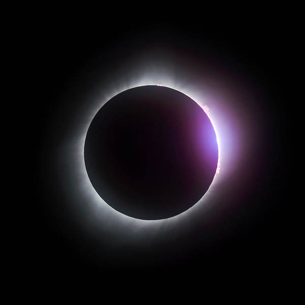 Just After Totality - Solar Eclipse August 21, 2017 Poster