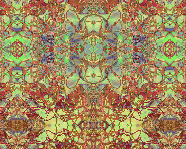Kaleid Abstract Tapestry Poster