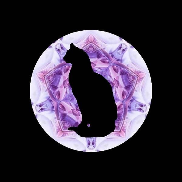 Kaleidoscope Cat Silhouette Poster