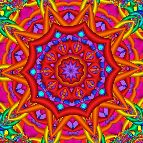 Kaleidoscope Flower 02 Poster
