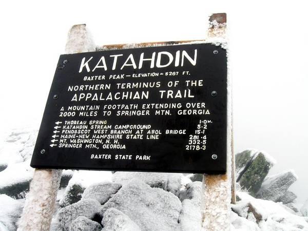 Appalachian Trail Katahdin - Baxter Peak Poster