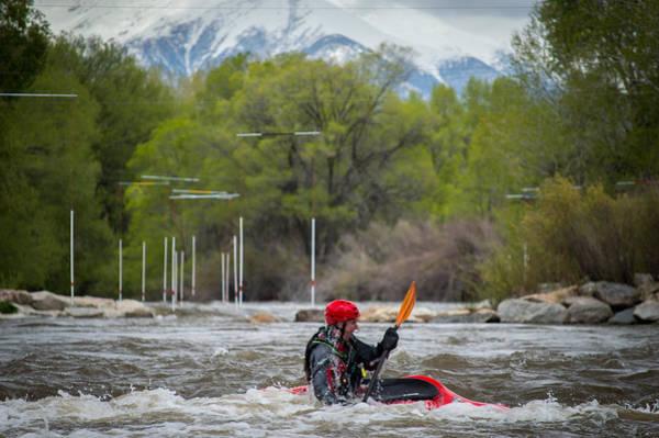 Kayaker On The Arkansas Poster