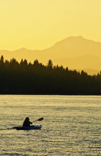 Kayaking Lake Almanor Poster