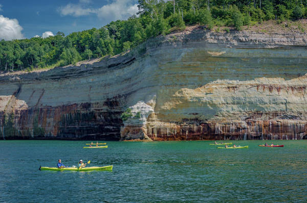 Kayaking The Pictured Rocks Poster