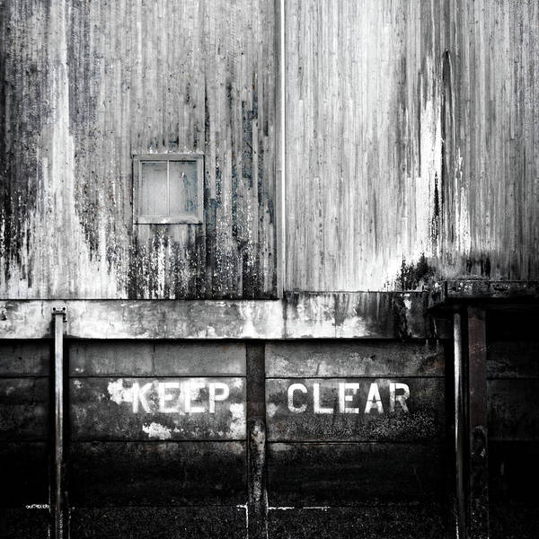 Keep Clear Industrial Art Poster