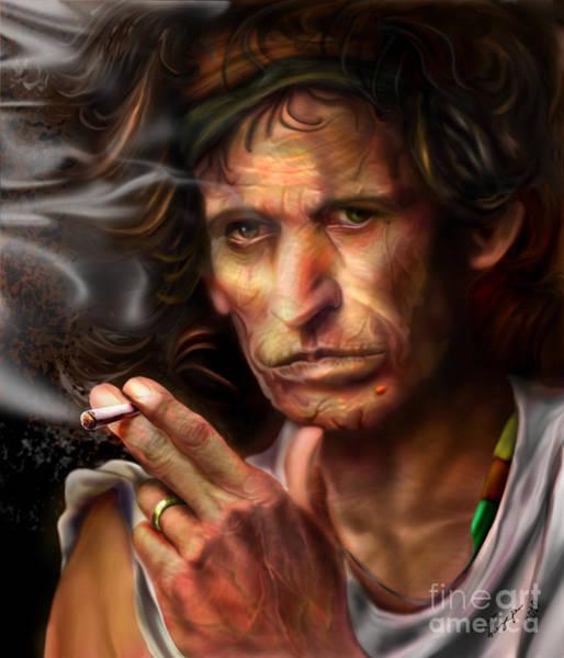 Keith Richards1-burning Lights 4 Poster