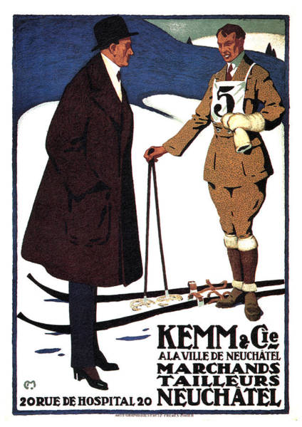 Kemm And Cie - Tailors And Clothing Merchants - Vintage Advertising Poster Poster