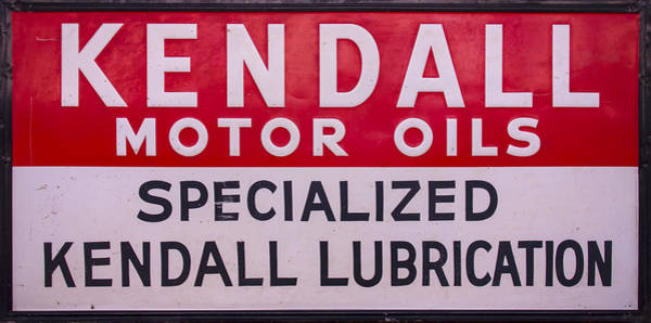 Kendall Motor Oils Sign Poster