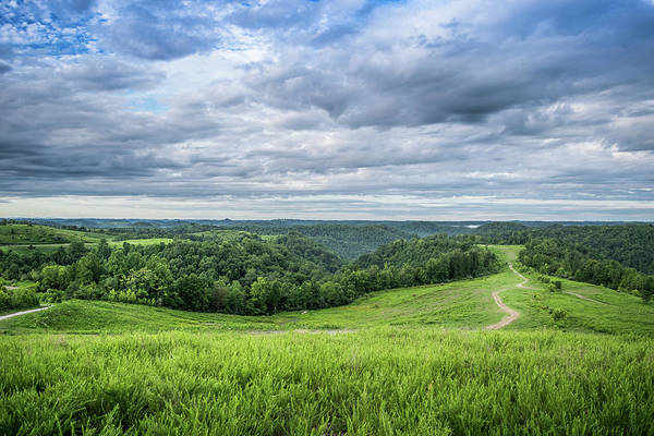 Kentucky Hills And Clouds Poster