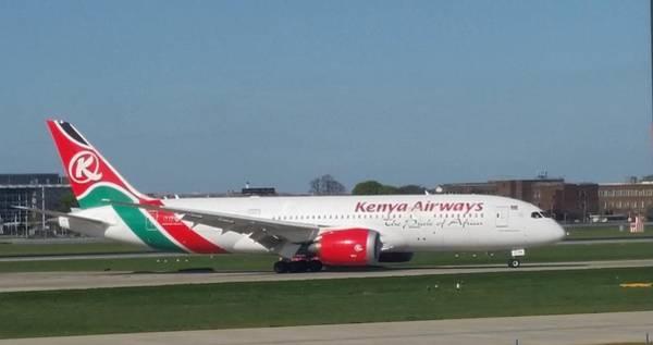 Kenya Airways Boeing 787 Poster