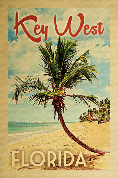 Key West Florida Palm Tree Poster