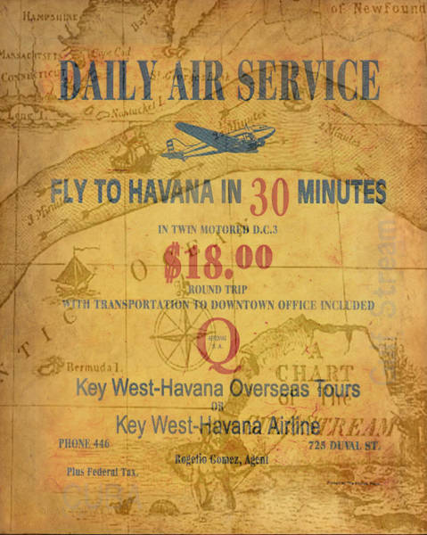 Key West To Havana Poster