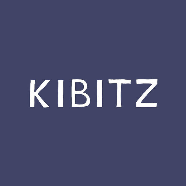 Kibitz In Navy And White- Art By Linda Woods Poster