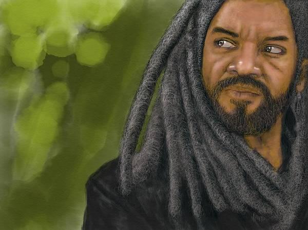 Poster featuring the digital art King Ezekiel by Antonio Romero
