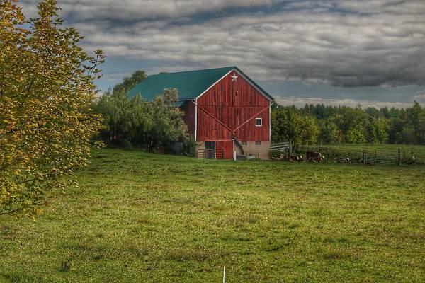 0039 - Kingston's Plain Road Cow Barn I Poster