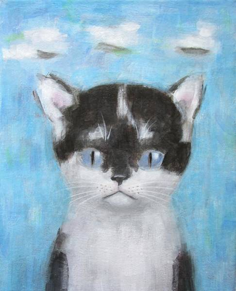 Kitten With Three Clouds Poster