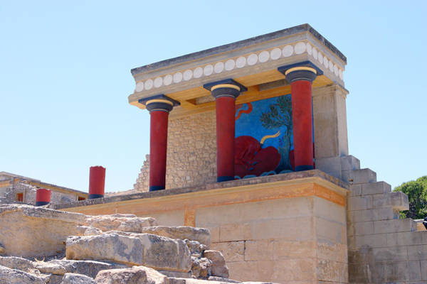 Knossos North Gate View Poster