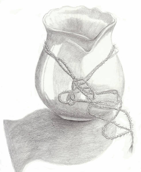 Knots On Vase Study Poster