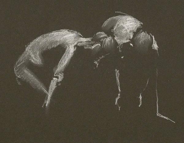 Kroki 2015 04 25 _1 Figure Drawing White Chalk Poster